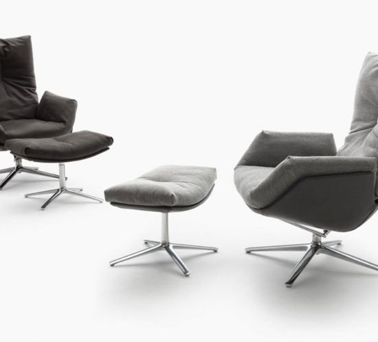 COR Cordia Lounge chairs and footstools