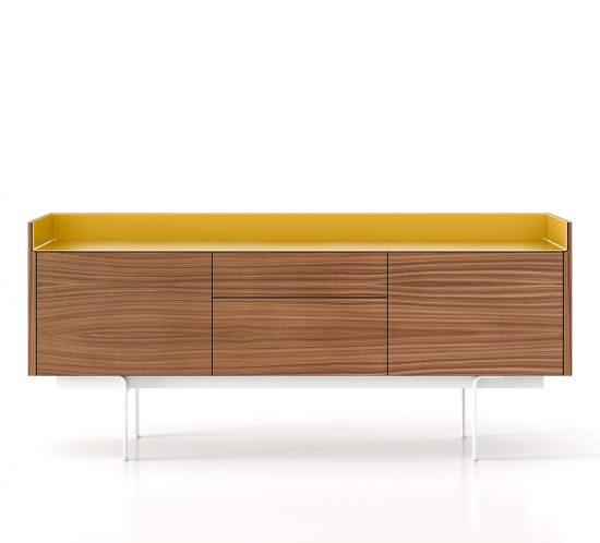 Stockholm sideboard, finished in walnut veneer