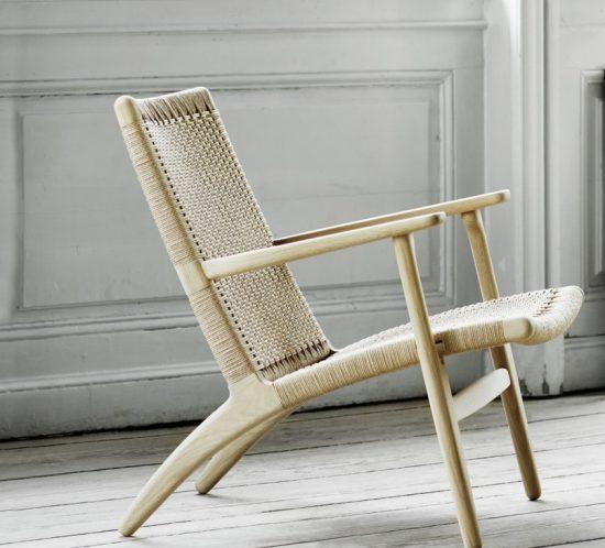 A Carl Hansen & Søn ch25 lounge chair