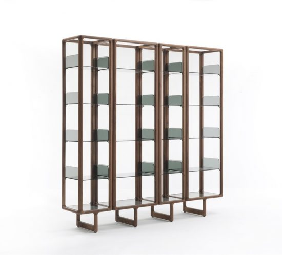 4-element Porada Myria bookcase