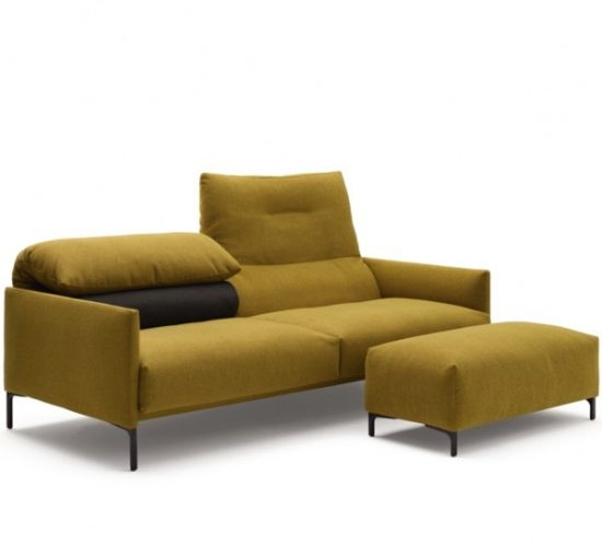 COR Avalanche sofa with matching footstool